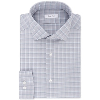 """Link to Calvin Klein Mens Steel Button Up Dress Shirt, grey, 17"""" Neck 32""""-33"""" Sleeve - 17"""" Neck 32""""-33"""" Sleeve Similar Items in Shirts"""