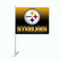 Fremont Die Inc Pittsburgh Steelers Car Flag With Wall Brackett Car Flag