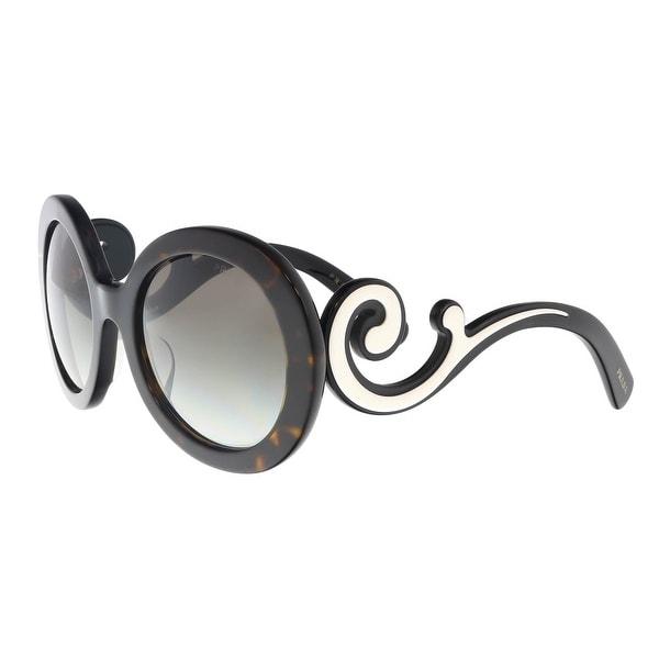 2c2d6af3c67a Shop Prada PR 08TSF 2AU0A7 Havana Round Sunglasses - 55-22-135 - On ...