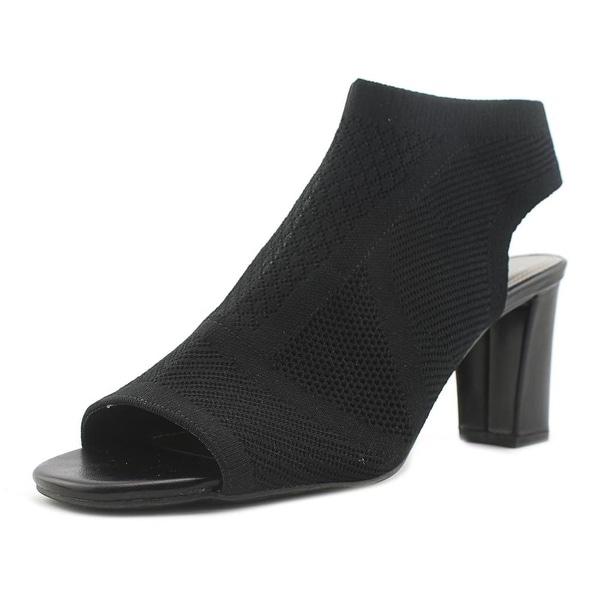 Impo Valerie Women Open Toe Canvas Black Sandals