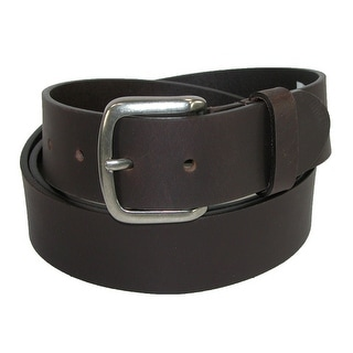 Dickies Men's Big & Tall Leather 40mm Cut Edge Bridle Belt