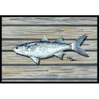 Carolines Treasures 8490-JMAT 36 x 24 in. Fish Mullet Indoor Or Outdoor Doormat
