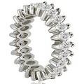 5.75 cttw. 14K White Gold Marquise Diamond Eternity Ring - Thumbnail 2
