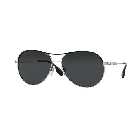 Burberry BE3122 100587 59 Silver/black Woman Pilot Sunglasses