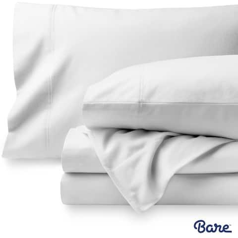 Bare Home Velvety Soft 100% Cotton Flannel Sheet Set Deep Pocket