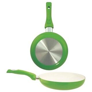 "Euro-Ware 8124-GR Ceramic Coated Fry Pan, 9.5"", Green"