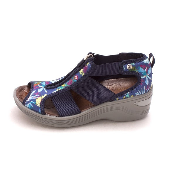 BZees Womens duet Open Toe Casual Platform Sandals