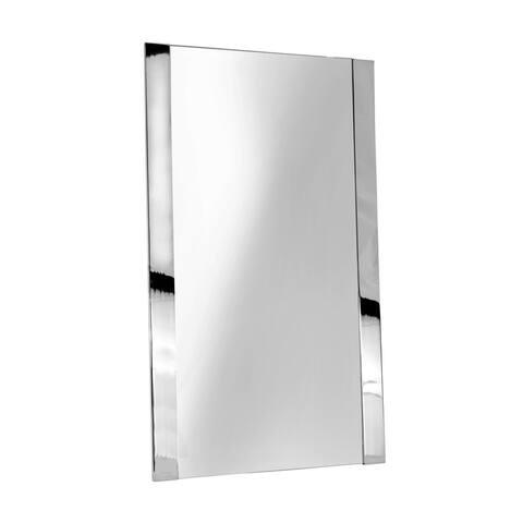 Ginger 4741 Cinu 20 x 34 Framed Mirror - Polished Chrome