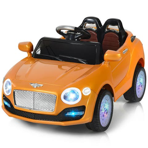 6V Kids Ride On Car Electric Battery Power RC Remote Control & Doors w/ MP3-Golden
