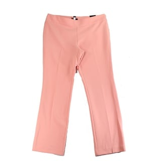Alfani NEW Pink Lobster Bisque Women's Size 4X32 Flare-Leg Pants