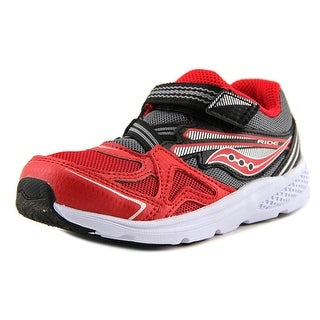 Saucony Baby Ride Youth Round Toe Canvas Red Walking Shoe