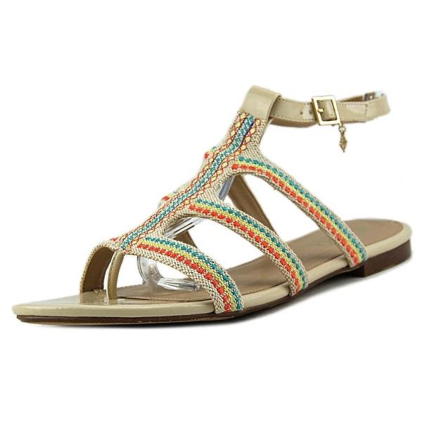 Nanette Lepore Sheryl Women Open Toe Canvas Tan Gladiator Sandal