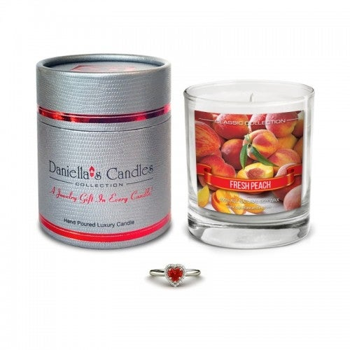 Peach Jewelry Candle - Necklace