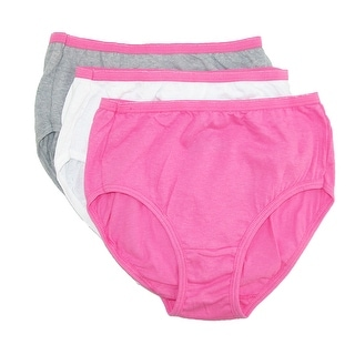 Hanes Girls' Cotton Briefs No Ride Up (Pack of 3) - Assorted