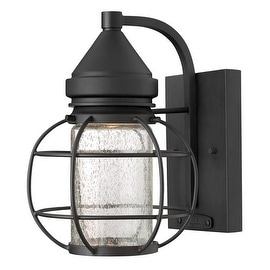 "Hinkley Lighting 2250 9.75"" Height 1 Light Dark Sky Lantern Outdoor Wall Sconce from the New Castle Collection - Black"