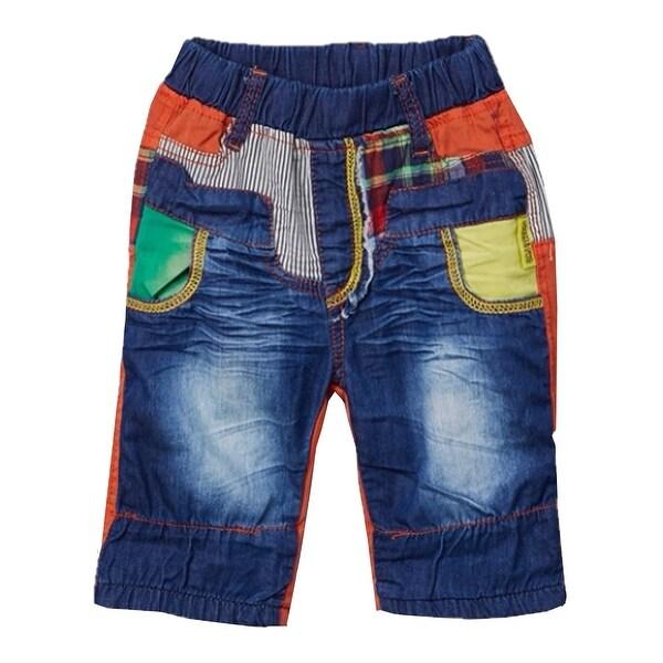 058bdd9c80 Shop Rock'n Style Boys Blue Orange Elastic Waist Denim Shorts 2-4 - Free  Shipping On Orders Over $45 - Overstock - 24121965