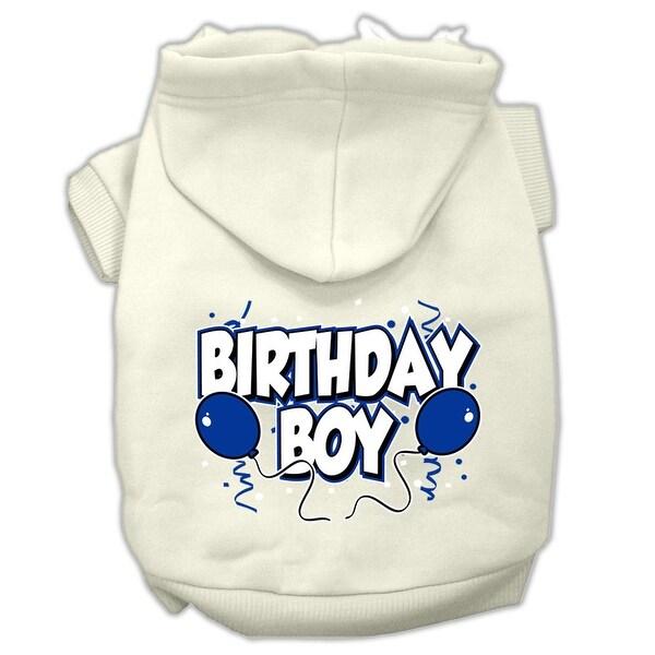 Shop Birthday Boy Screen Print Pet Hoodies Cream Size XS 8