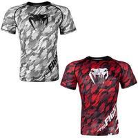 Venum Tecmo Short Sleeve MMA Compression Rashguard - Red/White