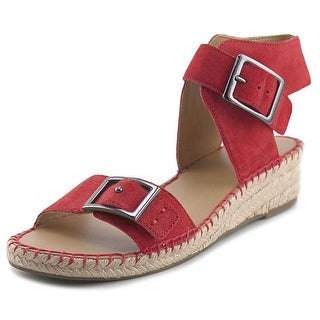 Franco Sarto Latin Open-Toe Leather Espadrille
