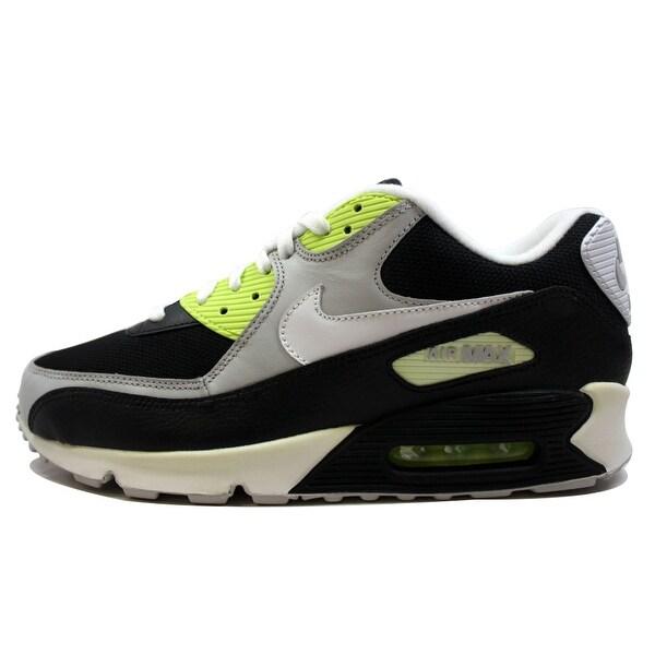 Nike Men's Air Max 90 Black/White-Volt-Neutral Grey 325018-095 Size 11