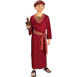Burgundy Wiseman Costume Child