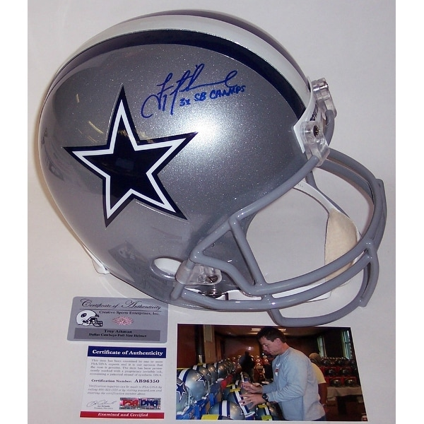 5b7c491da61 Shop Troy Aikman Autographed Hand Signed Dallas Cowboys Full Size Helmet  PSADNA - Free Shipping Today - Overstock - 13485224