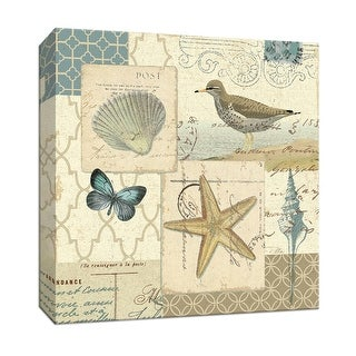 """PTM Images 9-152634  PTM Canvas Collection 12"""" x 12"""" - """"Coastal Collage IV"""" Giclee Nautical and Ocean Art Print on Canvas"""