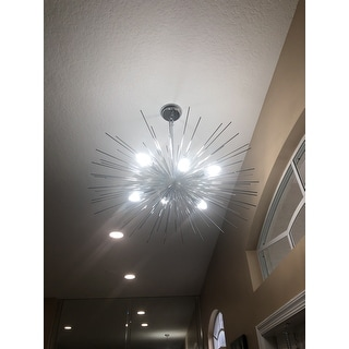 6 Light Sputnik Chandelier in Chrome finish