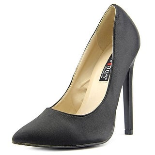 Devious Sexy-20 Women Pointed Toe Synthetic Black Heels