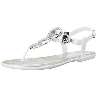 Bandolino Womens Loocho Split Toe Casual T-Strap Sandals