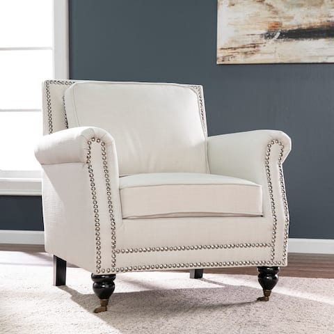 Copper Grove Baronville Ivory Upholstered Armchair
