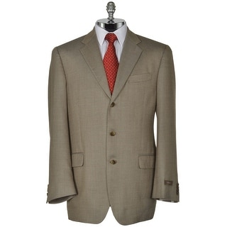 Joseph Abboud Signature Taupe Silk and Wool Sportcoat 48 Regular 48R Blazer