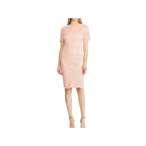 AMERICAN LIVING Pink Short Sleeve Mini Fit + Flare Dress Size 12