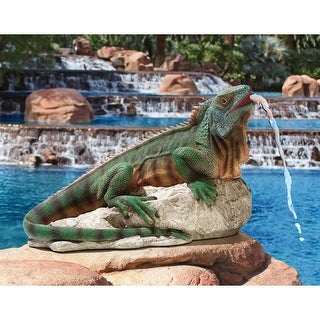Ike, the Iguana Spitter Piped Statue DESIGN TOSCANO ike the iguana ike iguana