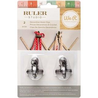 We R Ruler Studio Decorative Metal Hook Clips 2/Pkg-