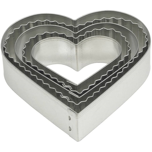 Mrs. Anderson's 42155 Crinkle Heart Cookie Cutters, Set of 5