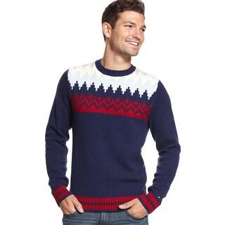 Tommy Hilfiger Mens Shoreland Fair Isle Crew-Neck Sweater XX-Large XXL Multicolor