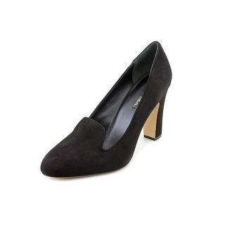 Via Spiga Lorena Women Round Toe Suede Heels
