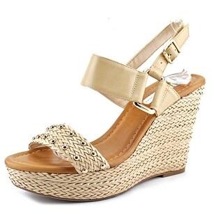 INC International Concepts Alffie Open Toe Synthetic Wedge Heel