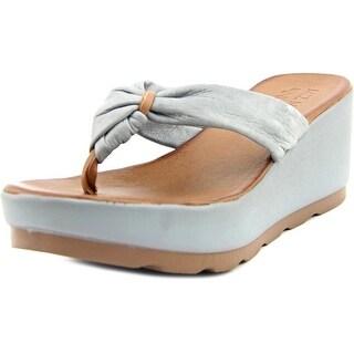 Miz Mooz Burma Open Toe Leather Wedge Sandal