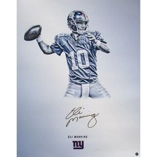 Eli Manning Signed New York Giants 16x20 Platinum Photo Steiner