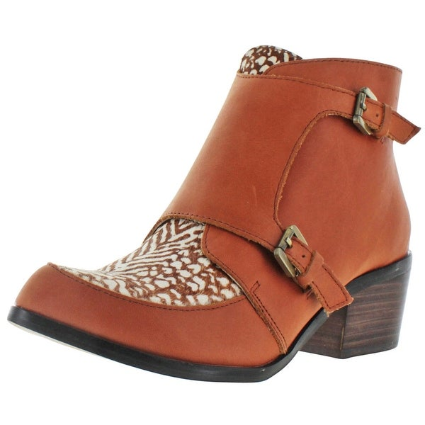 Very Volatile Nature Womens Monk Strap Ankle Booties