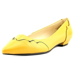 Nine West TIEDYE Women Round Toe Synthetic Yellow Ballet Flats