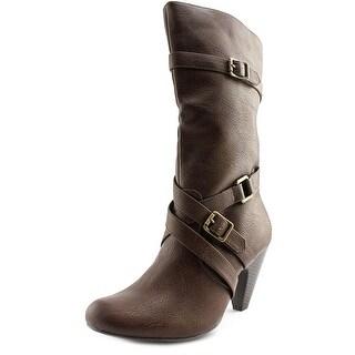 Dolce by Mojo Moxy Natasha Round Toe Synthetic Mid Calf Boot