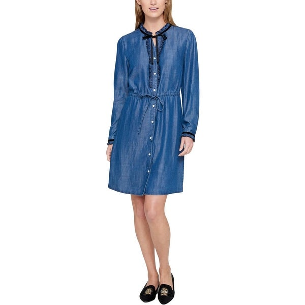 6883f94c017d89 Shop Tommy Hilfiger Womens Shirtdress Wear To Work Office Wear ...