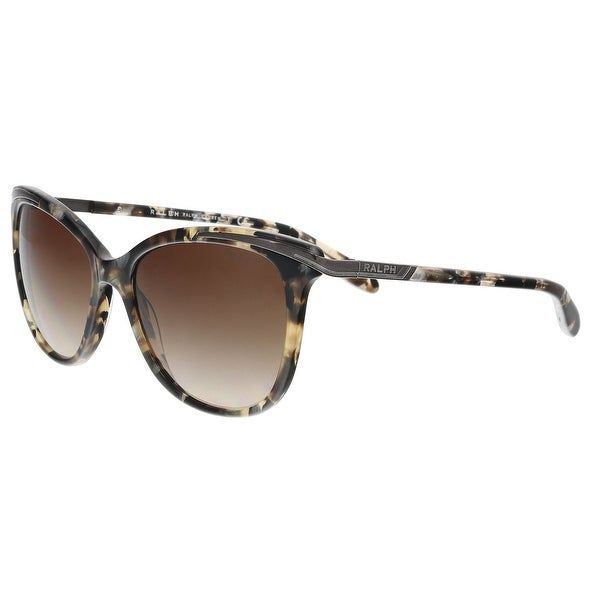 2a64eae0f08e Shop Ralph Lauren RA5203 146213 Brown Marble Cat eye Sunglasses - 54 ...
