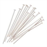 Head Pins, 1 Inch Long and 22 Gauge Thick, 20 Pieces, Sterling Silver