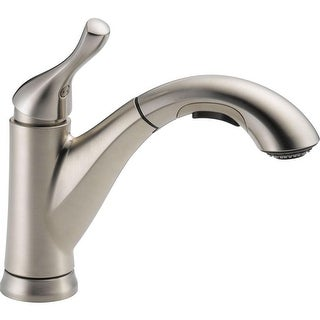 Delta 16953-SS-DST Single Handle Pull-out Kitchen Faucet, Stainless Steel