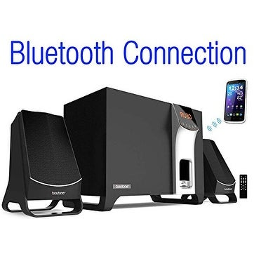 Boytone BT-3107F, Wireless Bluetooth 2.1 Multimedia Speaker System, FM Radio, Remote, Aux Port, USB/SD, Home Theater