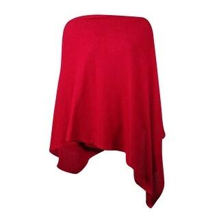 Alfani Women's Textured Boat Neck Poncho Sweater